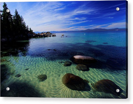 Welcome To Bliss Beach Acrylic Print
