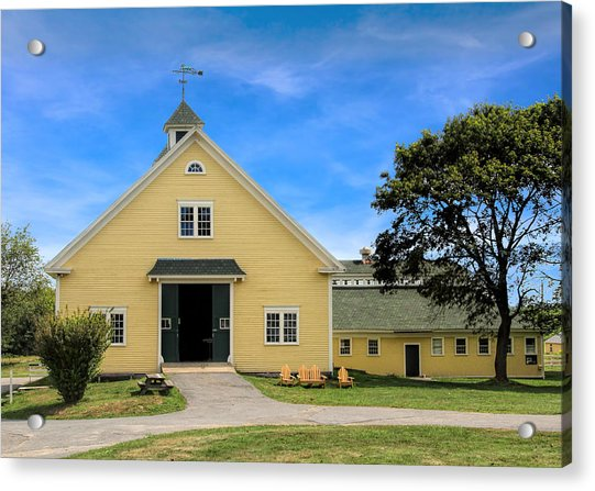 Acrylic Print featuring the photograph Wells Reserve Barn by Jemmy Archer
