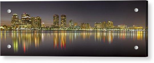 West Palm Beach Skyline Acrylic Print