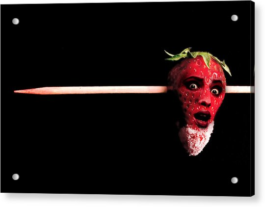 What Happens To Bad Strawberries Acrylic Print
