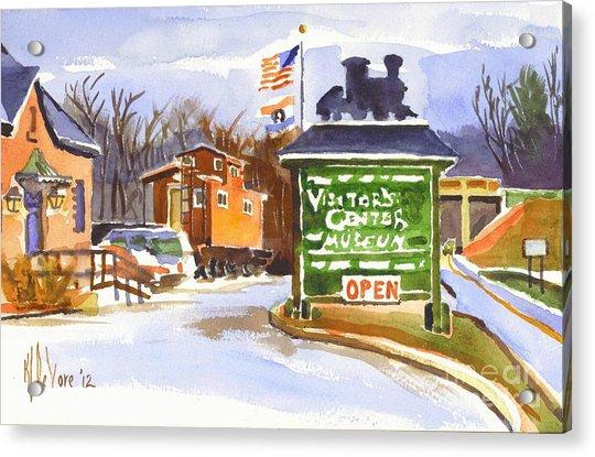 Whistle Junction In Ironton Missouri Acrylic Print
