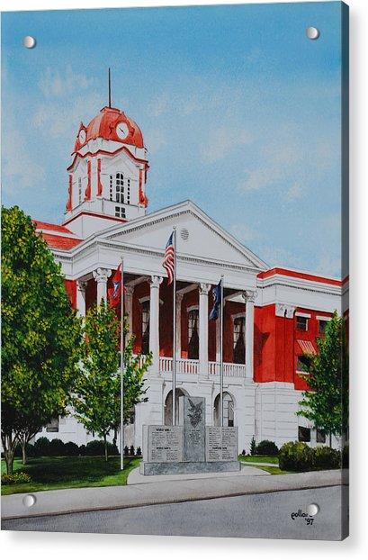 White County Courthouse - Veteran's Memorial Acrylic Print