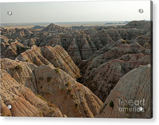 White River Valley Overlook Badlands National Park Acrylic Print