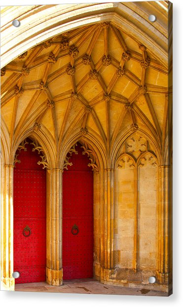 Winchester Cathedral Archway - Mike Hope Acrylic Print