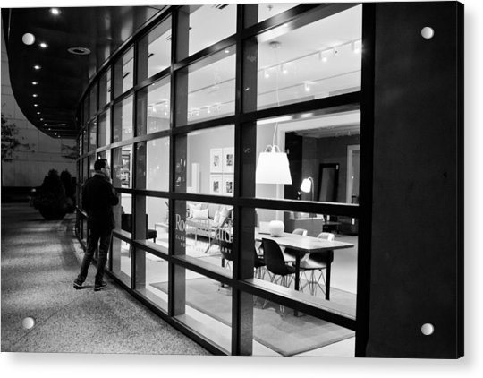 Window Shopping In The Dark Acrylic Print