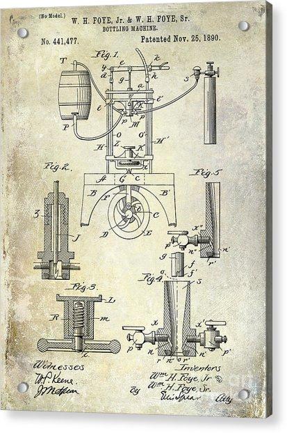 1890 Wine Bottling Machine Acrylic Print