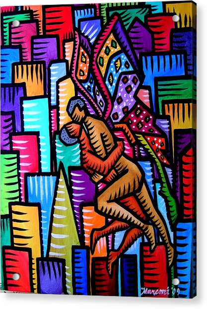 Wings Of Love Acrylic Print