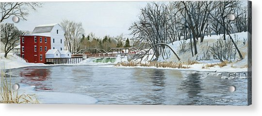 Winter At Phelps Mill Acrylic Print