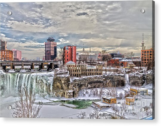 Winter In Rochester Acrylic Print