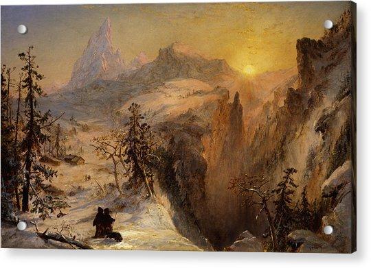 Winter In Switzerland Acrylic Print