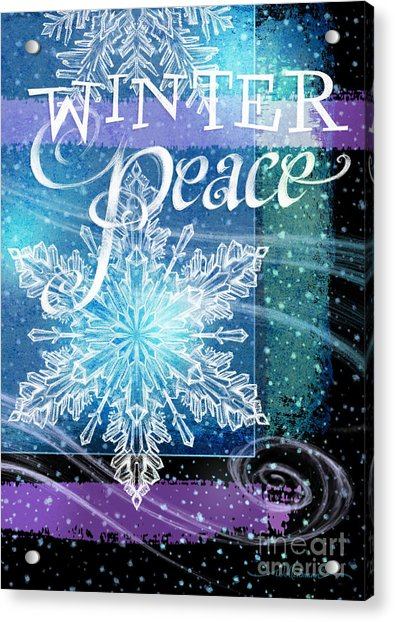 Winter Peace Greeting Acrylic Print