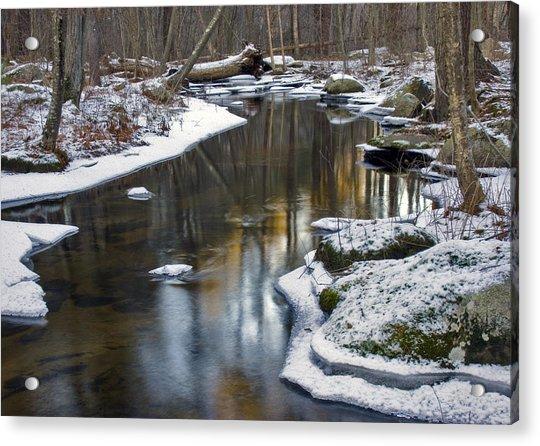 Winter Snake Meadow Brook Acrylic Print