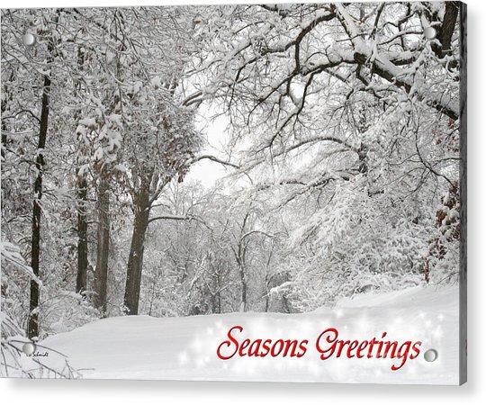 Winter Trail Seasonal Card Acrylic Print