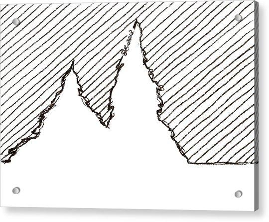 Winter Trees 2 - Aceo Acrylic Print