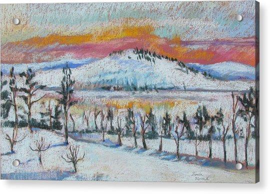 Winter View From Kripalu Acrylic Print