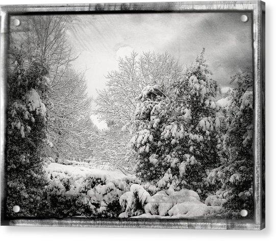 Winter Wonderland With Filmic Border Acrylic Print
