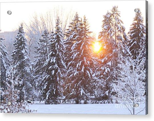Wintry Sunset Acrylic Print