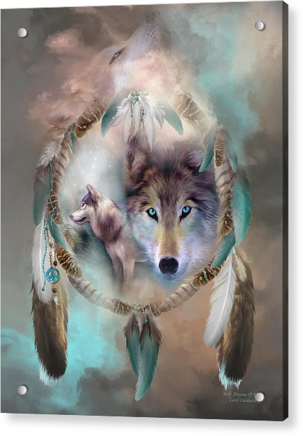 Wolf - Dreams Of Peace Acrylic Print