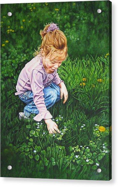 Wonder In A Wildflower Acrylic Print
