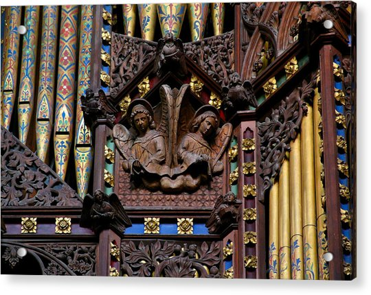 Wooden Angels Ely Cathedral Acrylic Print