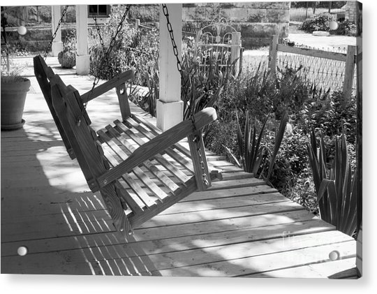 Wooden Front Porch Swing Acrylic Print