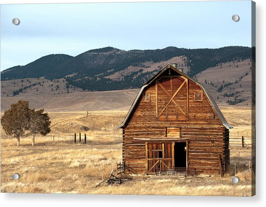 Wooden Hut In The Countryside Of Acrylic Print by Feifei Cui-paoluzzo