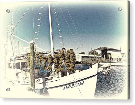 Working Sponge Boat Acrylic Print