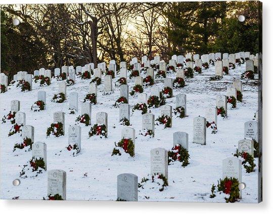 Wreaths At Arlington National Cemetery Acrylic Print