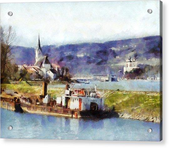 Ybbs An Der Donau Harbour Acrylic Print