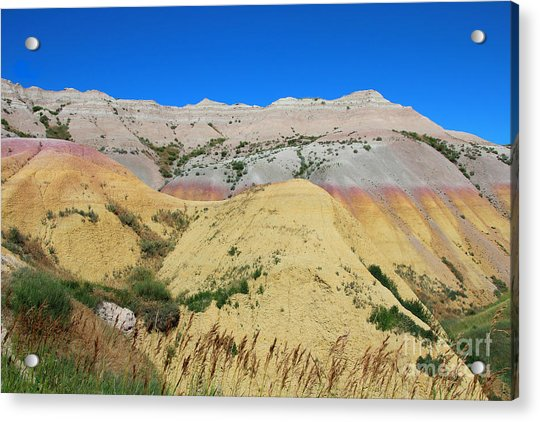 Acrylic Print featuring the photograph Yellow Mounds Badlands National Park by Jemmy Archer