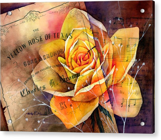 Yellow Rose Of Texas Acrylic Print