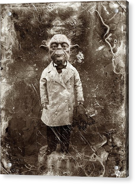Yoda Star Wars Antique Photo Acrylic Print