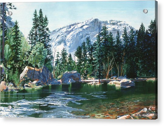 Yosemite Mirror Lake Acrylic Print