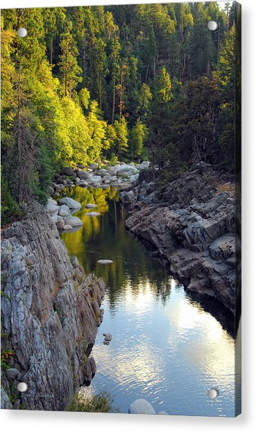 Yuba River Twilight Acrylic Print
