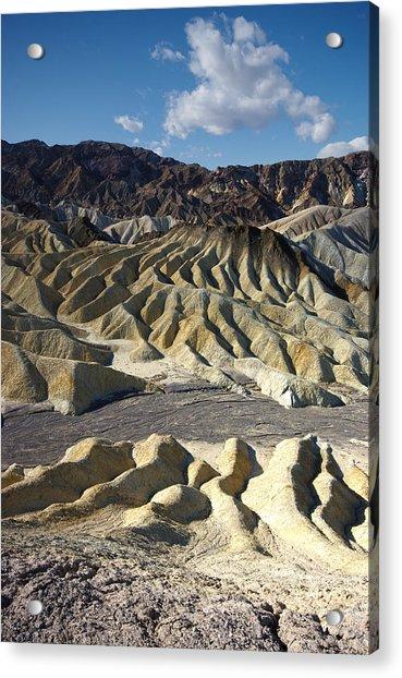 Zabriskie Point Death Valley By Frank Lee Hawkins Acrylic Print