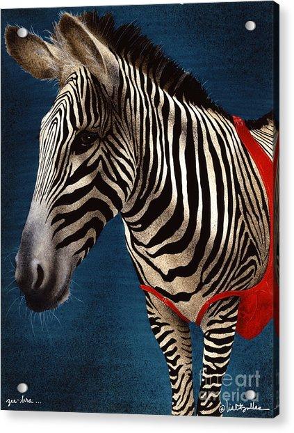 Zeebra Acrylic Print by Will Bullas