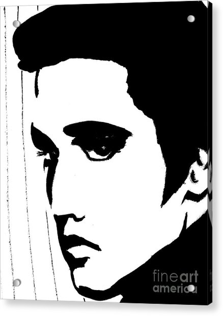 Elvis In Black And White Acrylic Print