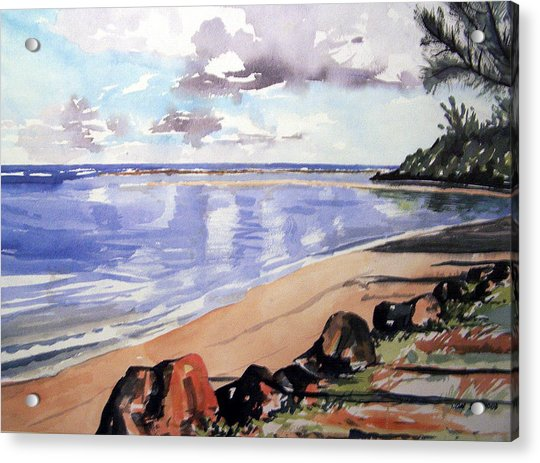 Hanalei Bay Acrylic Print by Jon Shepodd