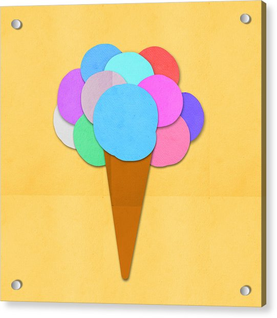 Ice Cream On Hand Made Paper Acrylic Print