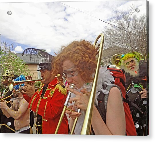 Mardi Gras Day In New Orleans Acrylic Print