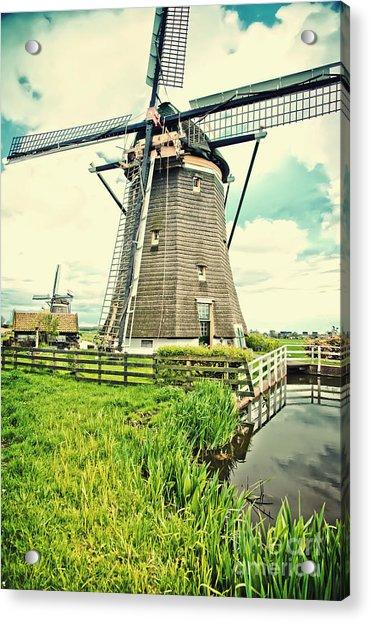 Old Dutch  Windmill Acrylic Print