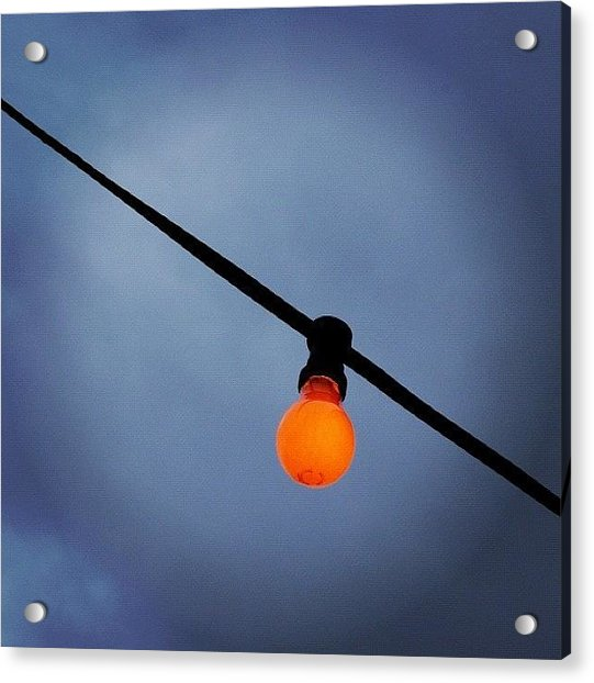 Orange Light Bulb Acrylic Print