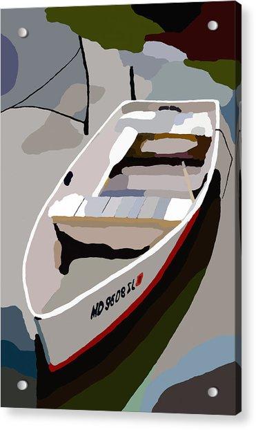 Row Boat San Damingo Creek Acrylic Print