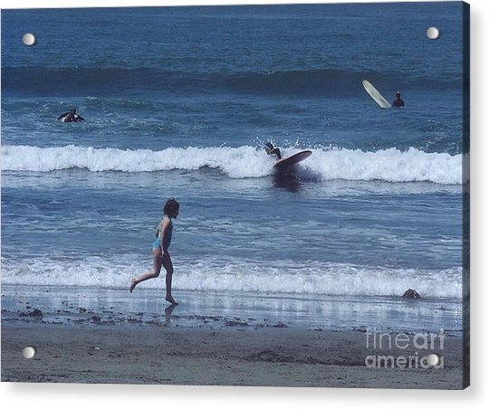 Acrylic Print featuring the photograph Surf's Up by Cynthia Marcopulos
