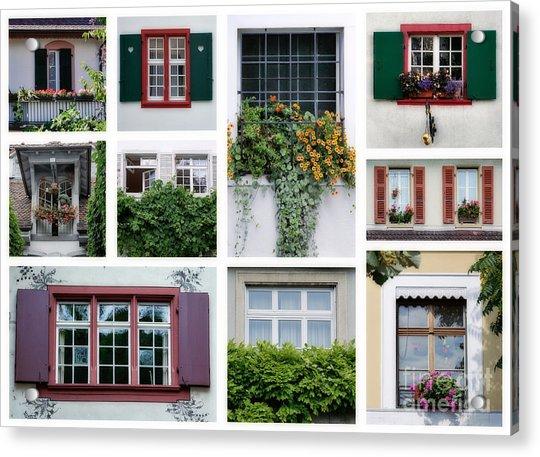 Swiss Windows Acrylic Print