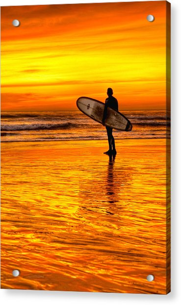 Surfing Sensations Acrylic Print by Donna Pagakis