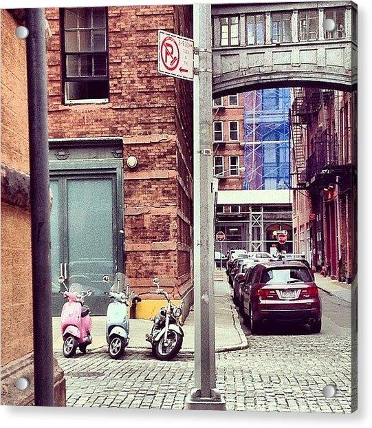 3 Bikes 1 Car Acrylic Print