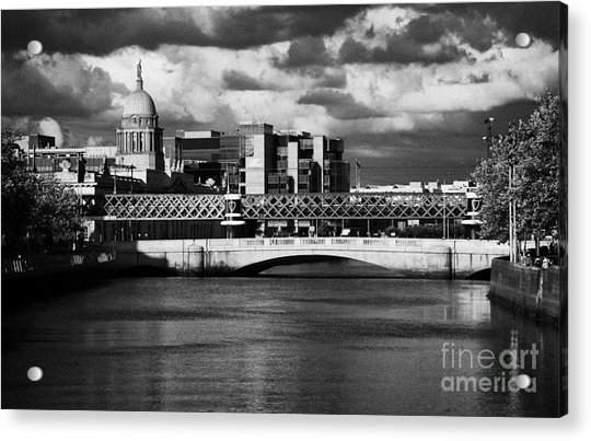 View Of The River Liffey In Dublin City Centre Republic Of Ireland Acrylic Print by Joe Fox