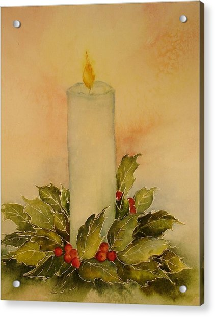 A Candle For Peace Acrylic Print