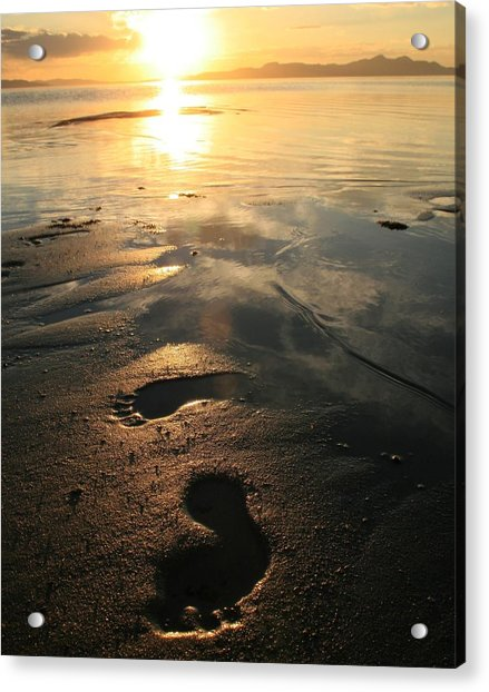 A Walk In The Sand Acrylic Print by Gene Praag